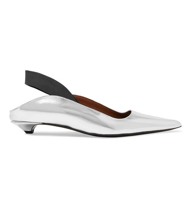 Proenza Schouler Metallic Leather Slingback Heels