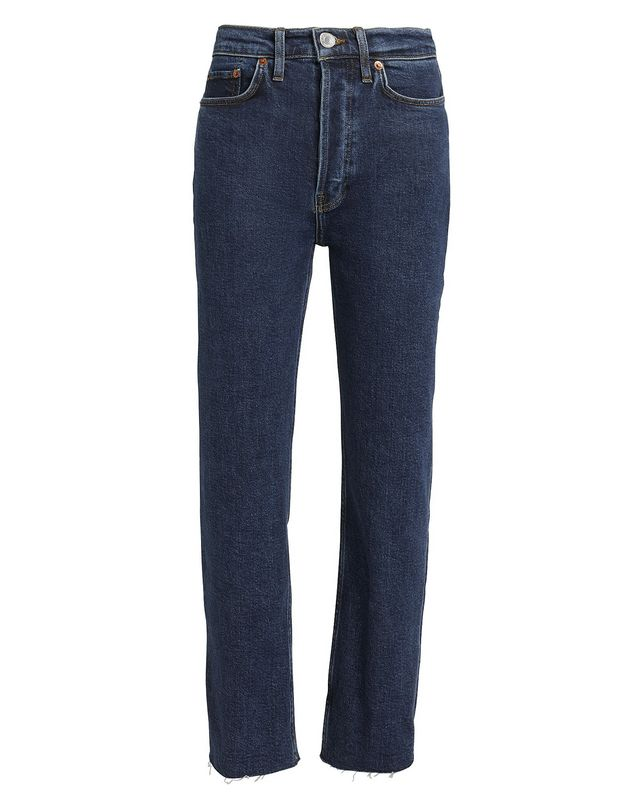 Re/Done High-Rise Stove Pipe Comfort Stretch Jeans