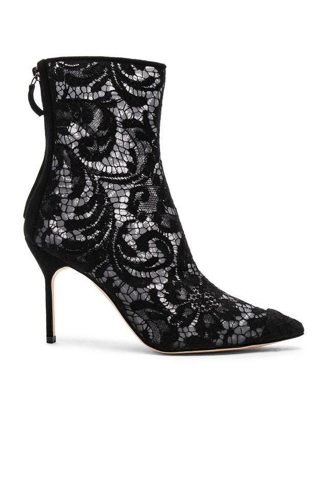 Manolo Blahnik Lace Zarinanu 90 Boots