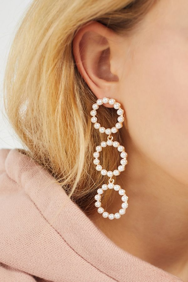Urban Outfitters Pearl Statement Drop Earring
