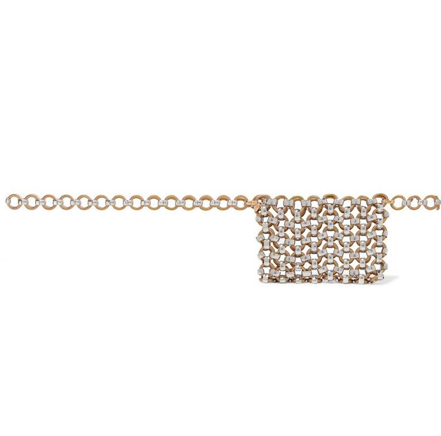 Laura Lombardi Gold and Silver-Tone Belt Bag