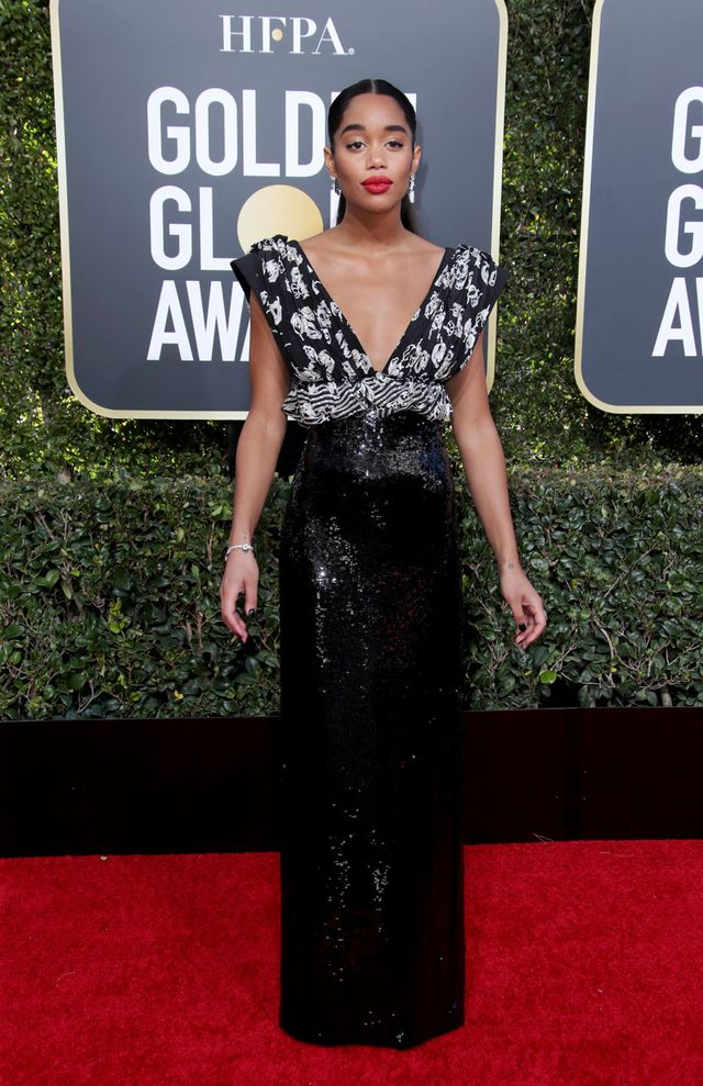 Laura Harrier Golden Globes 2019