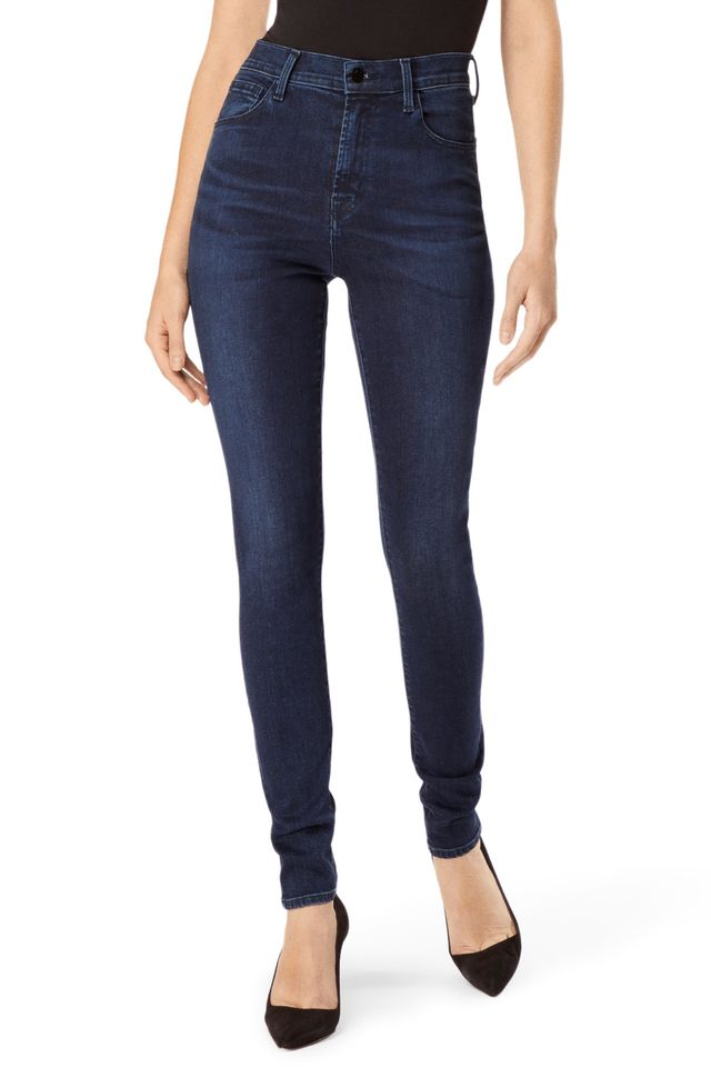 J Brand Carolina Super High-Rise Skinny Jeans in Photo Ready HD Phased