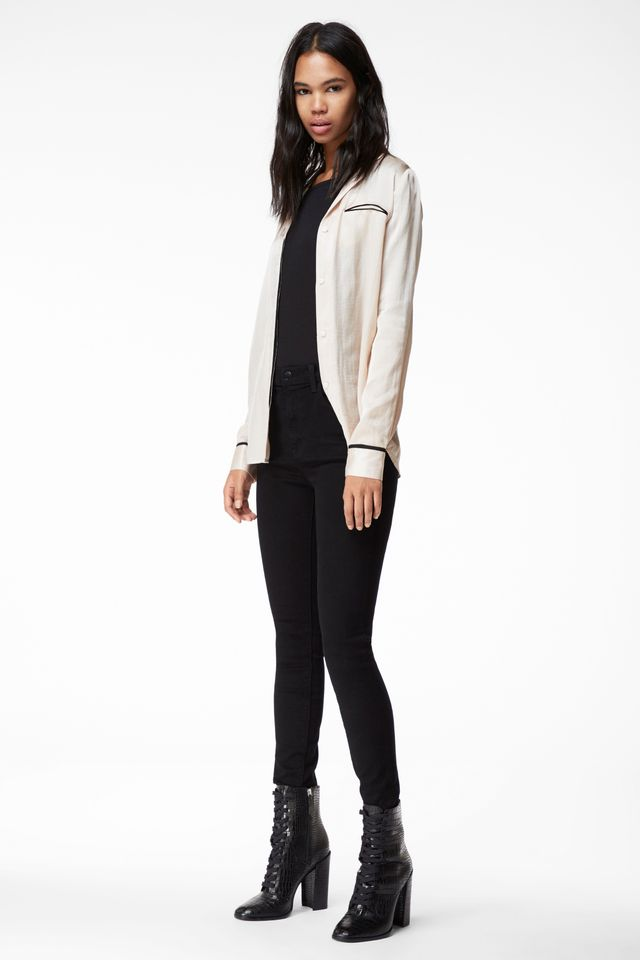 J Brand Carolina Super High-Rise Skinny Jeans in Photo Ready HD