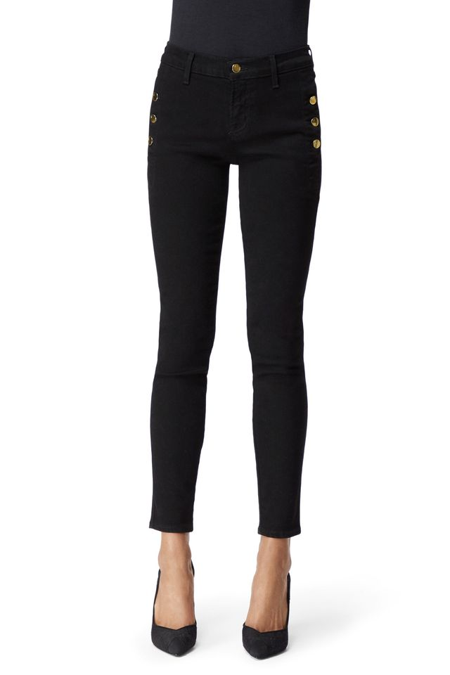 J Brand Zion Mid-Rise Cropped Skinny Jeans in Photo Ready HD Vesper