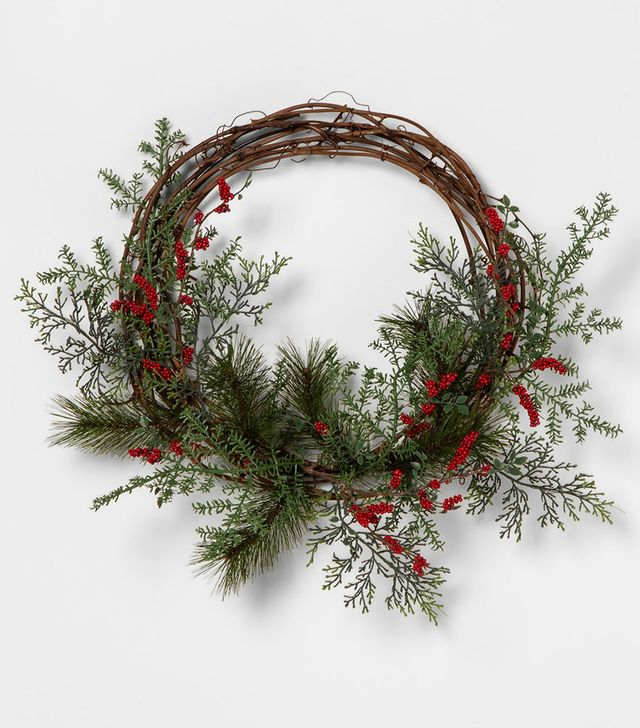Hearth & Hand with Magnolia Red Berry Pine Wreath
