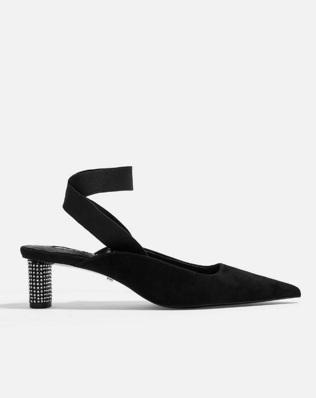 Topshop Jax Diamanté Heel Shoes