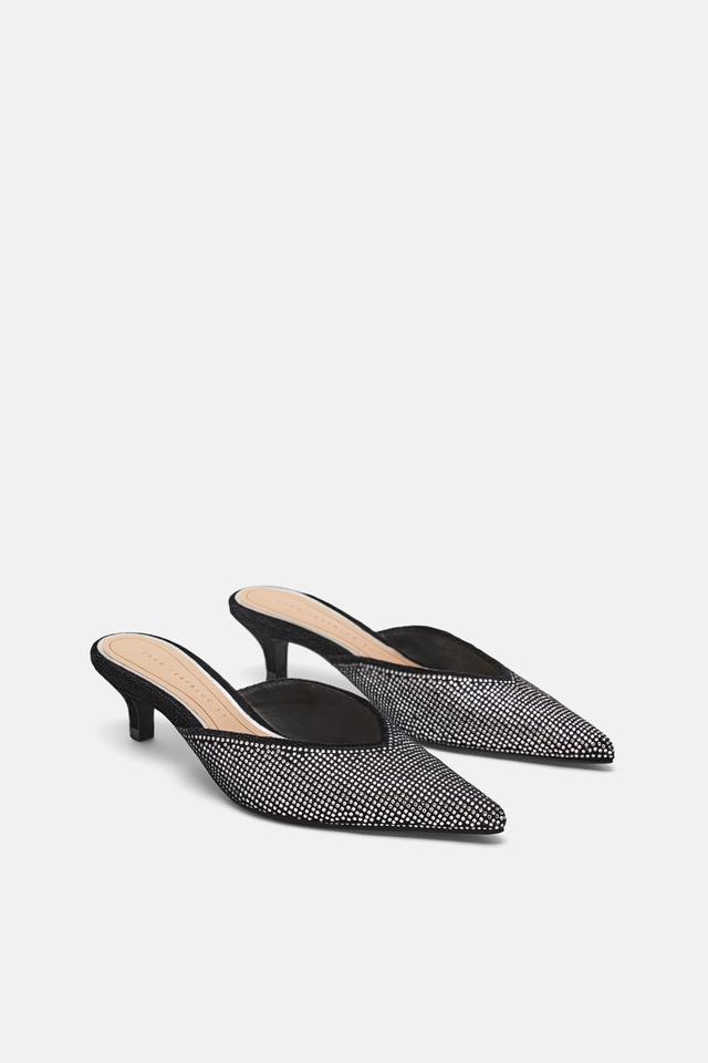 Zara Sparkly Heel Mules