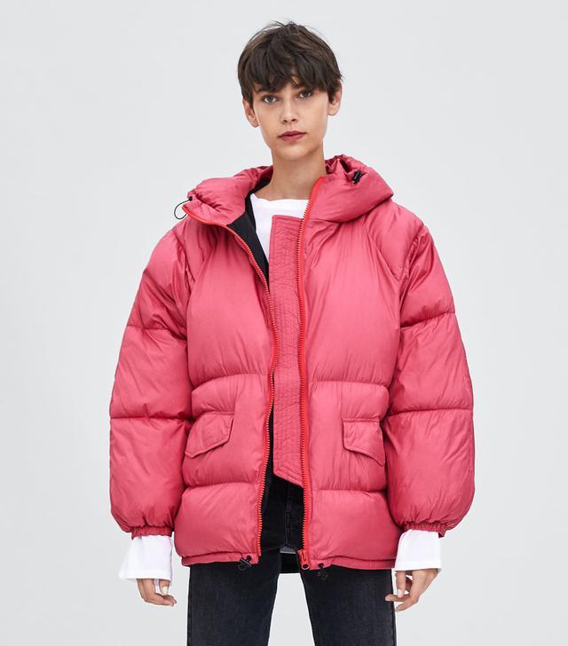 Zara Oversized Puffer Jacket