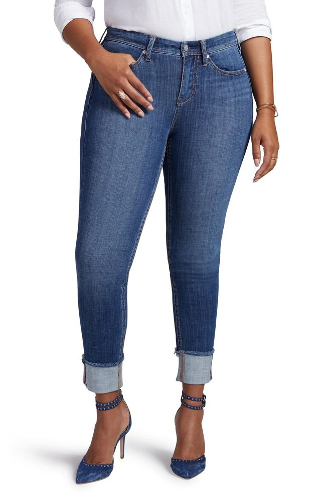Curves 360 BY NYDJ Boost Raw Cuff Skinny Jeans