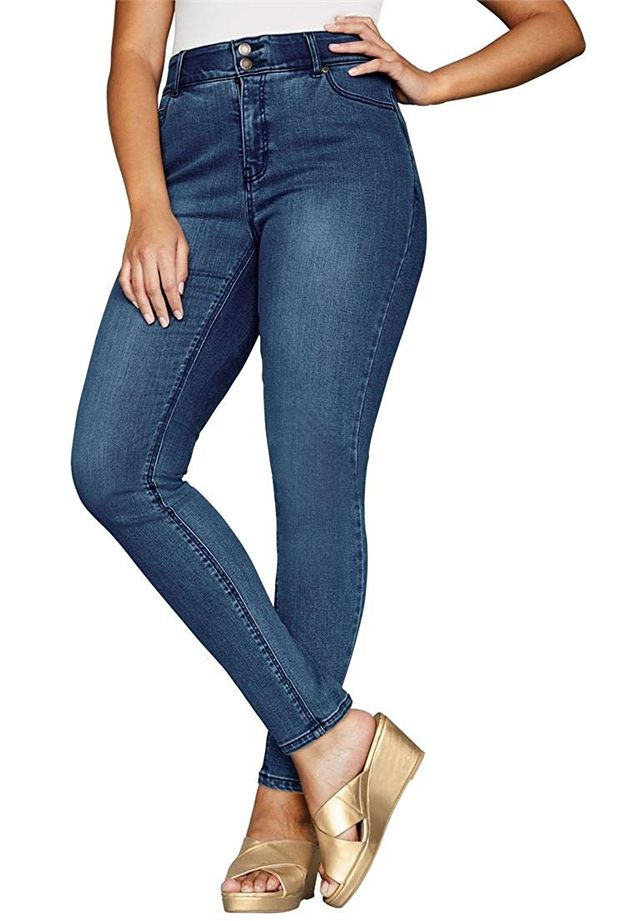 Jessica London Tall Tummy-Control Skinny Jeans