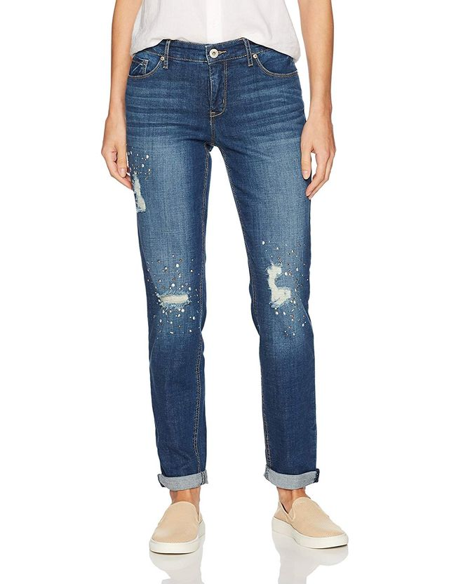 Miraclebody Jeans Perfect Boyfriend Roll Cuff Jean