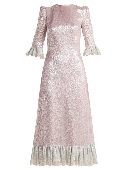 The Vampire's Wife Falconetti Ruffle Trimmed Silk Blend Dress