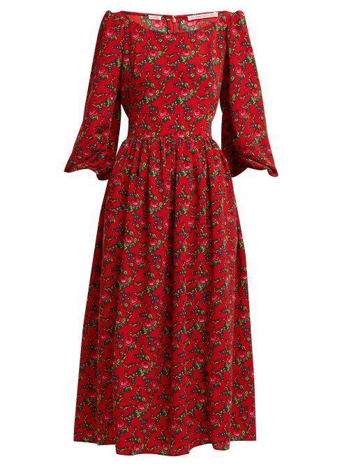 The Vampire's Wife Fleetwood Gypsy Print Crepe Dress