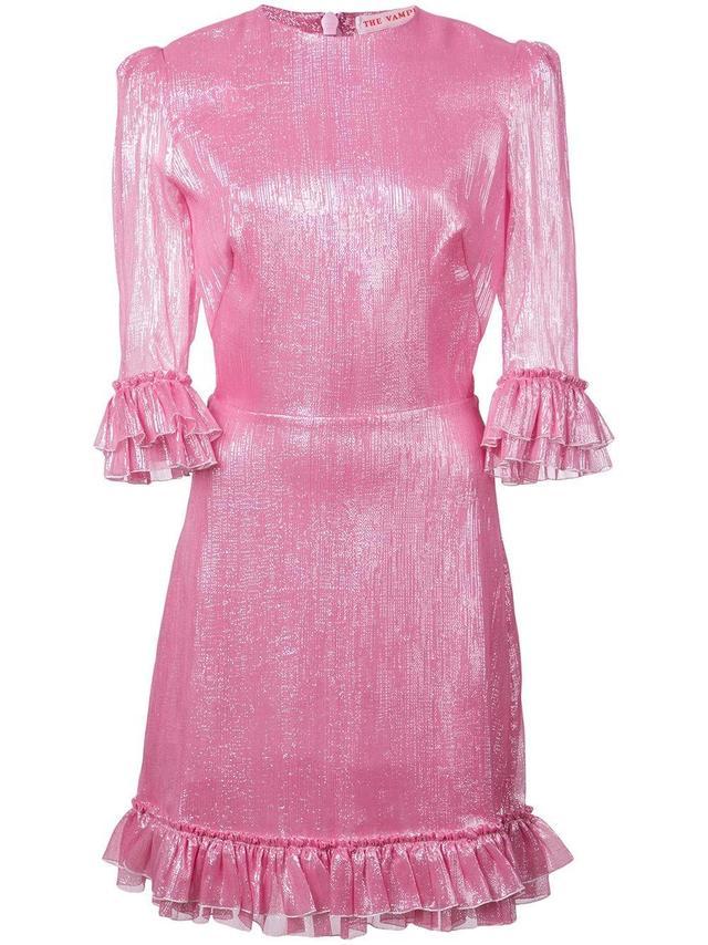 The Vampire's Wife Crinkled Design Flared Dress