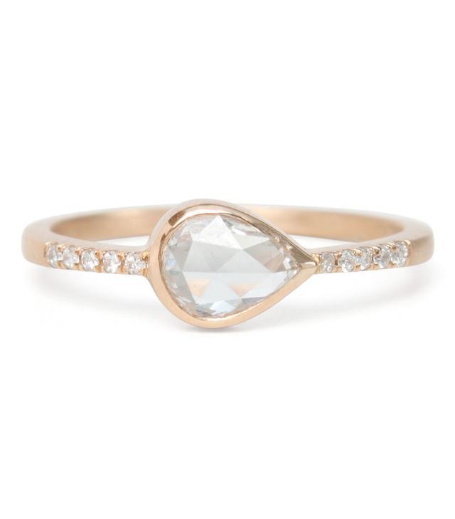 Gillian Conroy Teardrop Diamond Pavé Ring
