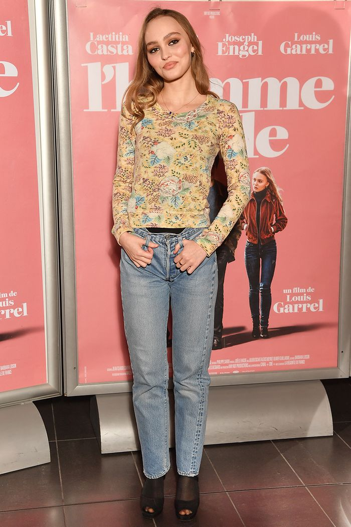 Lily Rose Depp Wore Tights Under Jeans On The Red Carpet