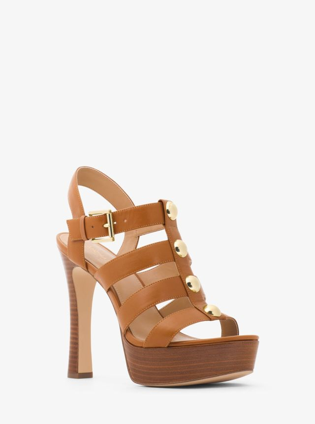 Michael Kors Inez Leather Platform Sandal