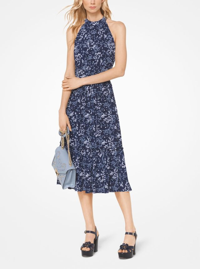 Michael Kors Floral Halter Dress