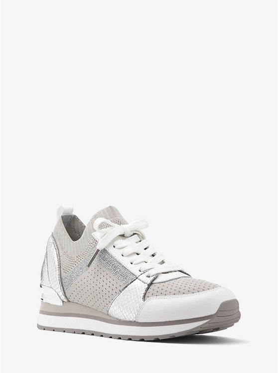 Michael Kors Billie Metallic Knit Trainer