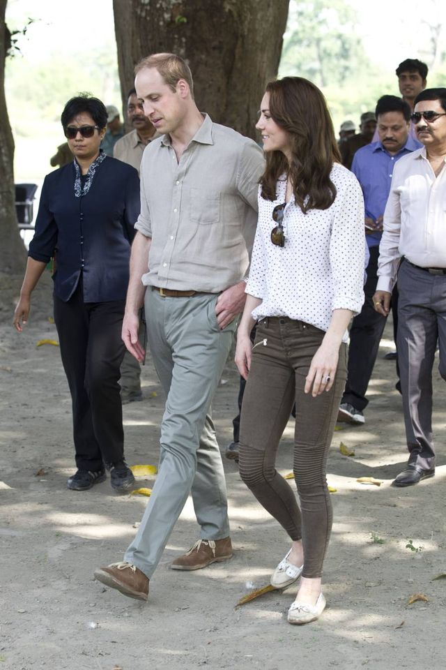 Kate Middleton Skinny Jeans and Flats