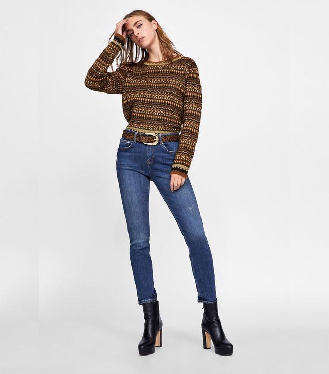 Zara Blue Skinny Jeans