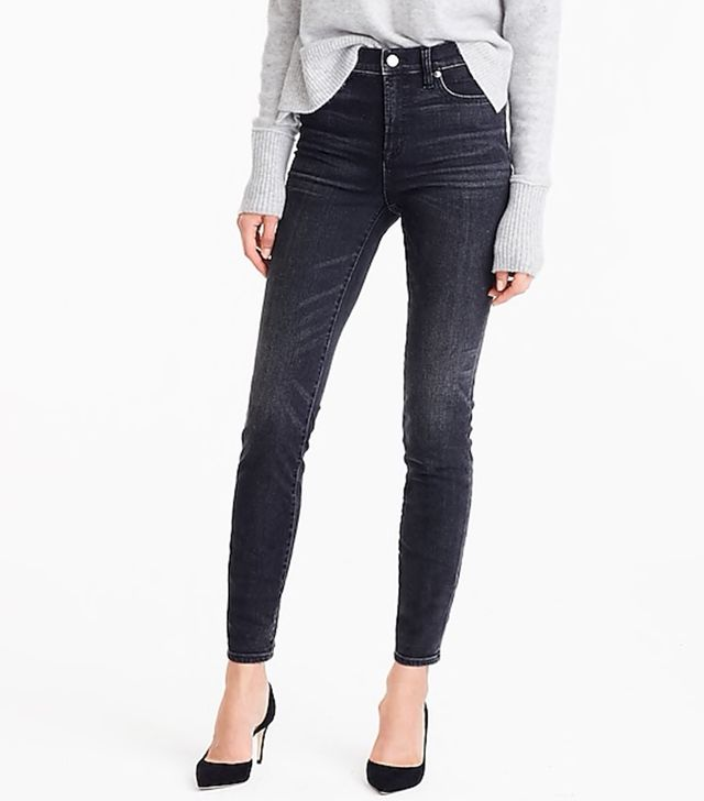 J.Crew High Rise Toothpick Jeans in Charcoal