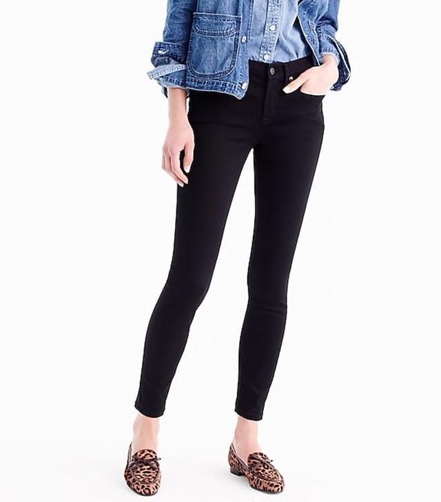 J.Crew Stretch Toothpick Jeans in True Black