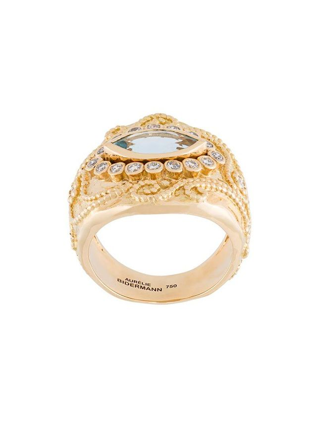 Aurélie Bidermann Cashmere Aquamarine and Diamond Ring