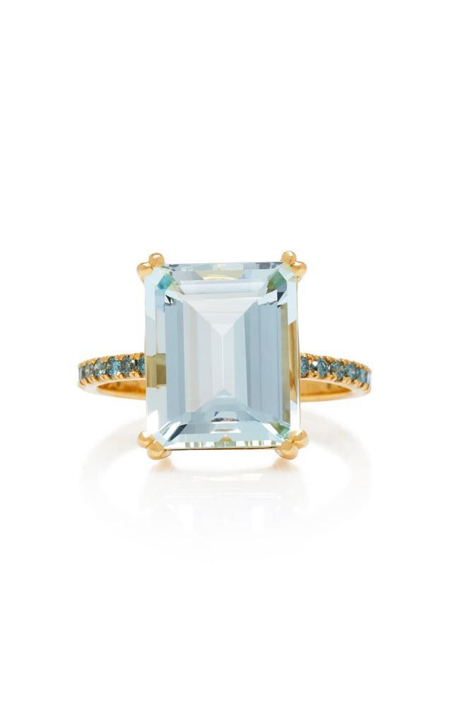 Yi Collection 18K Aquamarine And Blue Diamond Ring