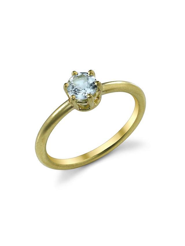 Irene Neuwirth Brilliant Cut Fine Aquamarine Ring
