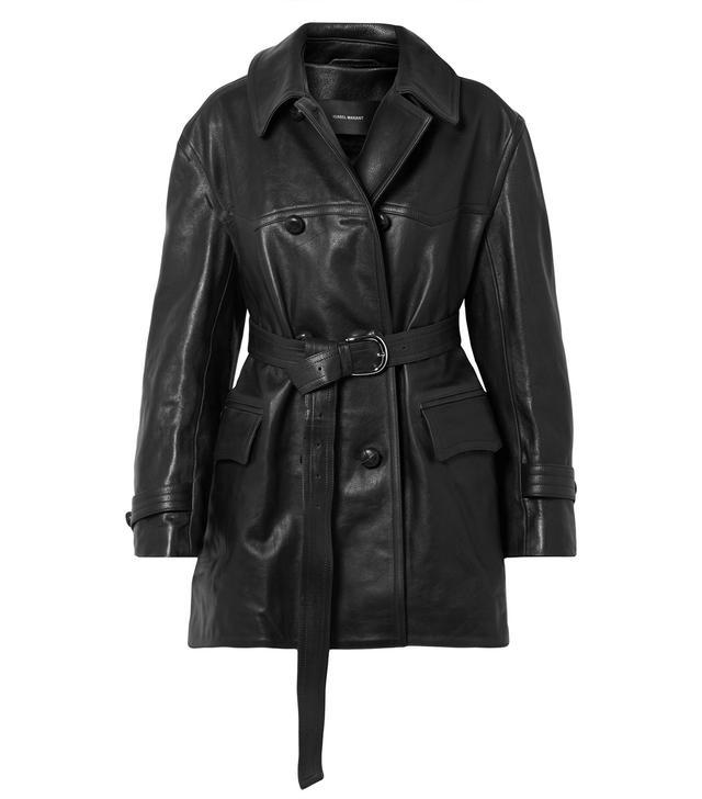Isabel Marant Chili Oversized Leather Trench Coat
