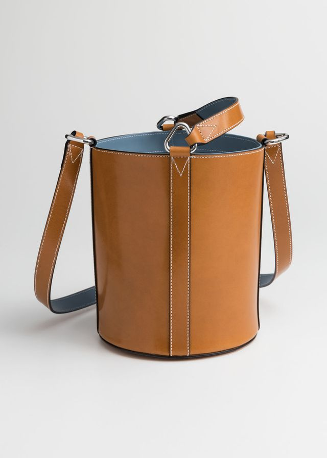 & Other Stories Structured Leather Bucket Bag