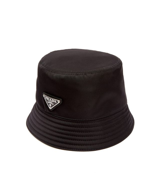 Prada Triangle-Plaque Nylon Bucket Hat