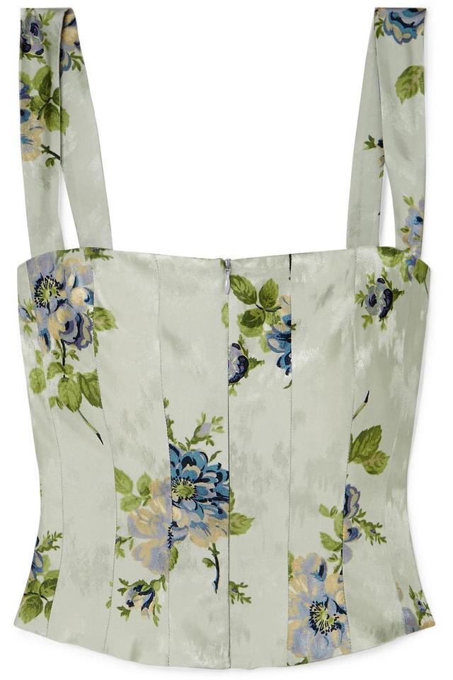 Brock Collection Tayten Floral-Print Silk-Jacquard Top