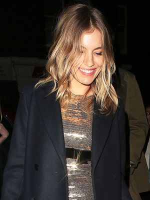 Sienna Miller Wore the Shoes Cool Girls Wear With Black Tights