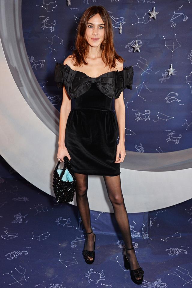 Alexa Chung black dress