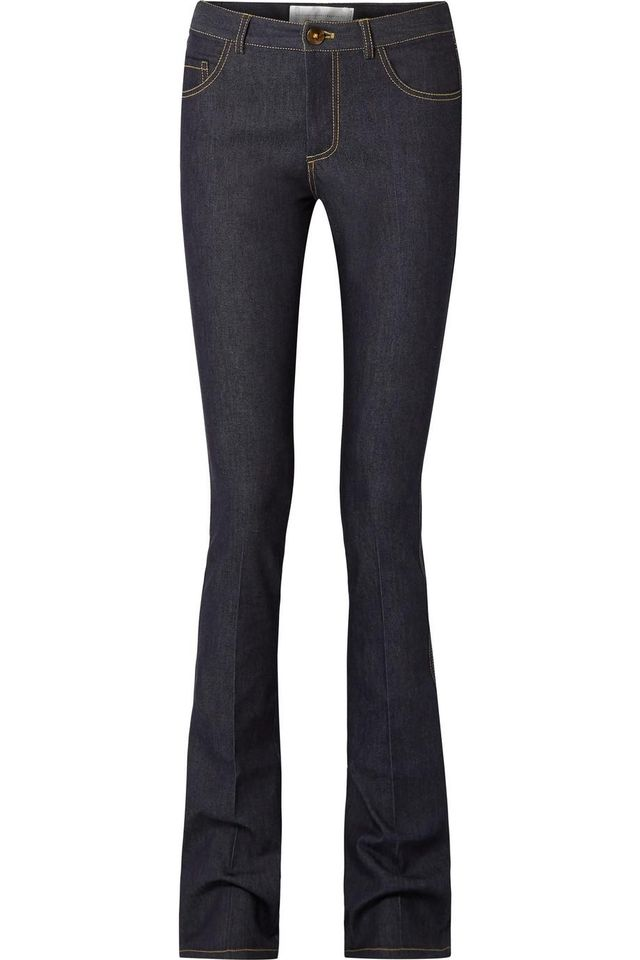 Victoria by Victoria Beckham Mid-Rise Flared Jeans