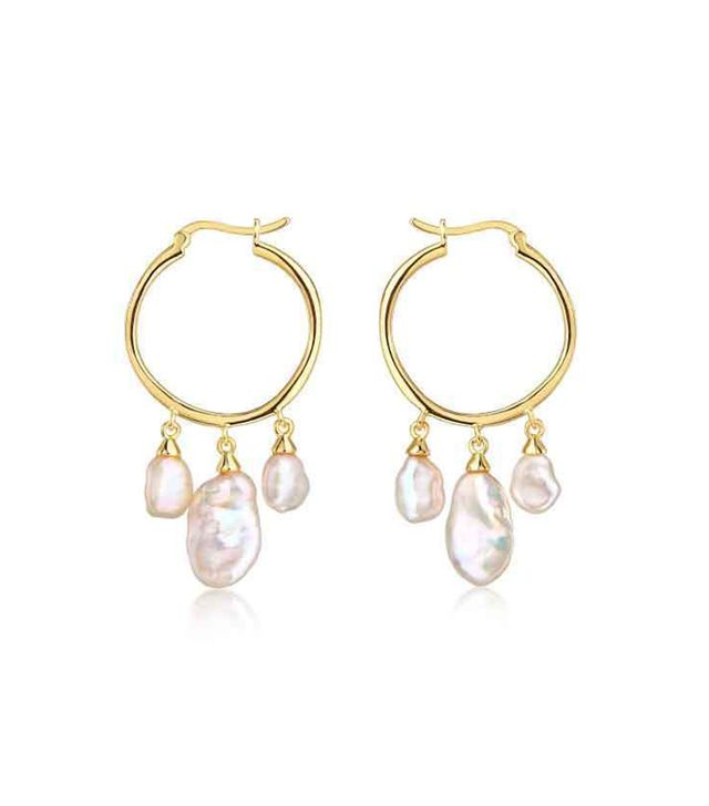 F and H Jewelry Kashmir Triple Pearl Earrings