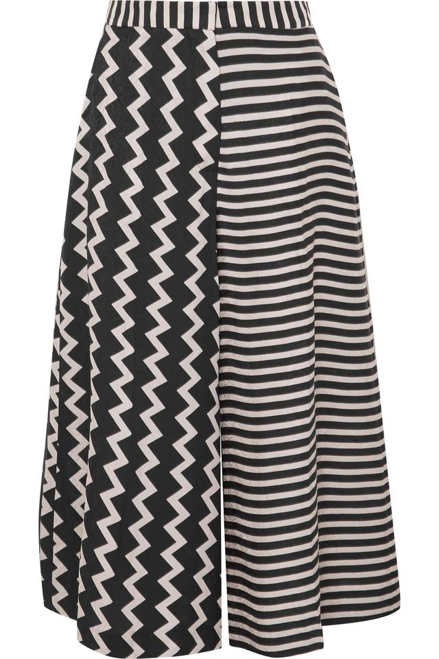 Stella McCartney Printed Silk-Moire Culottes