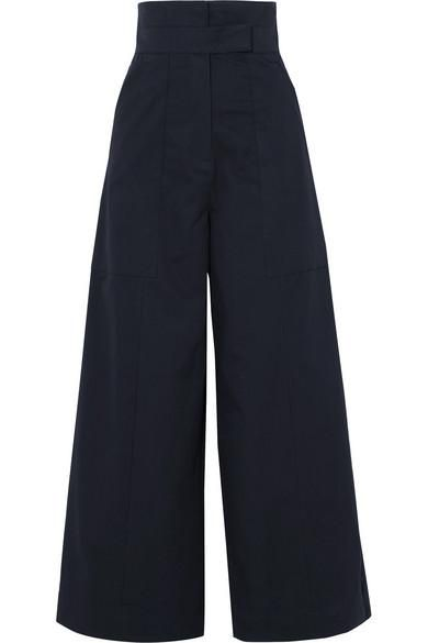 Solace London Hestia Cotton-Poplin Wide-Leg Pants