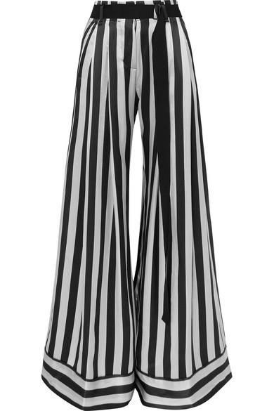 Ann Demeulemeester Striped Silk-Satin Pants