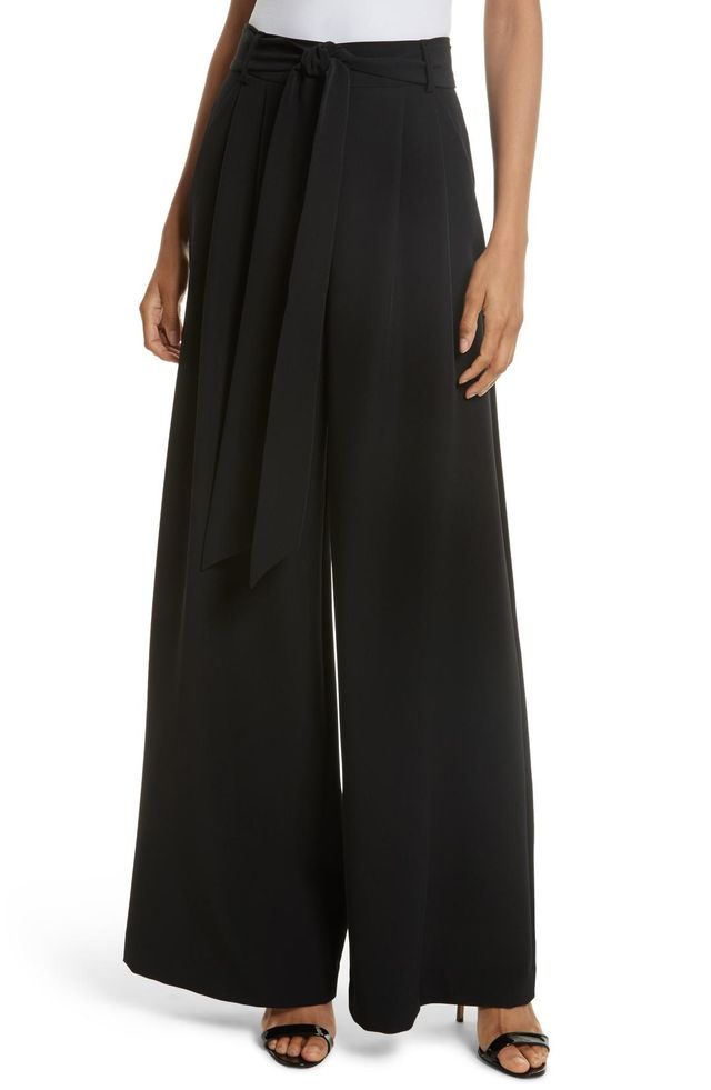 Milly Natalie Wide Leg Italian Cady Pants