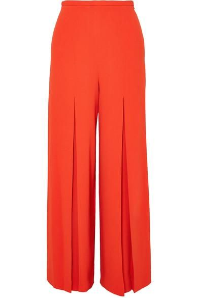 Roland Mouret Huggate Pleated Cady Wide-Leg Pants