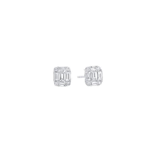 Sara Weinstock Illusion White Diamond Studs