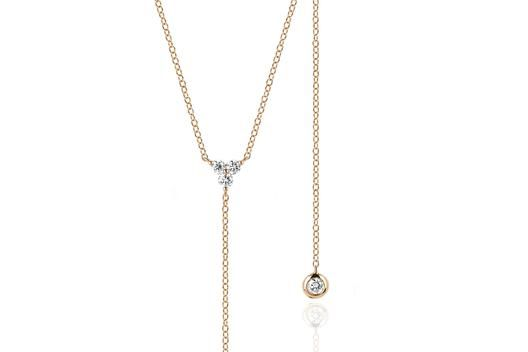 EF Collection Diamond Trio Lariat Necklace