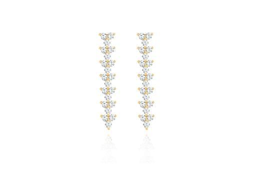 EF Collection Diamond Trio Drop Earrings