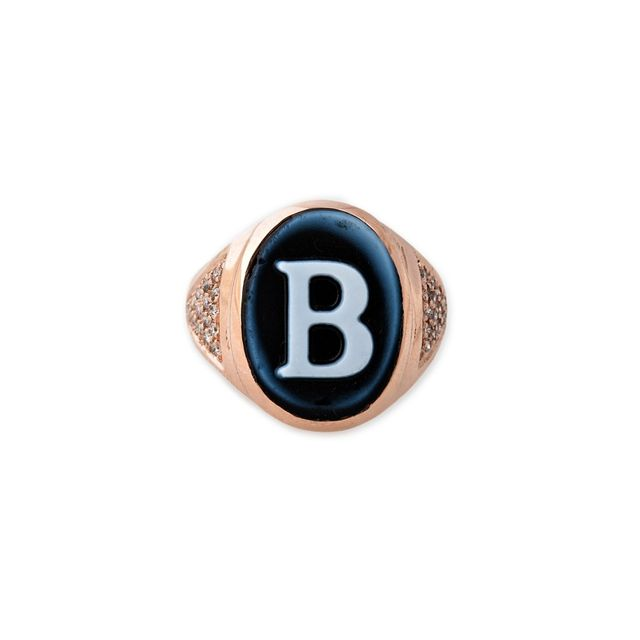 Jacquie Aiche Carved Agate Initial Cameo Ring