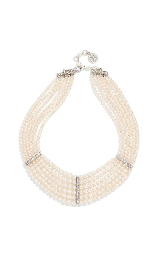 Ben-Amun Imitation Pearl Strand Layer Necklace