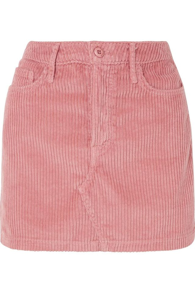 Grlfrnd Zamira Cotton-Blend Corduroy Mini Skirt